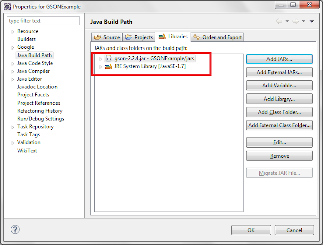 convert string to json object in java example