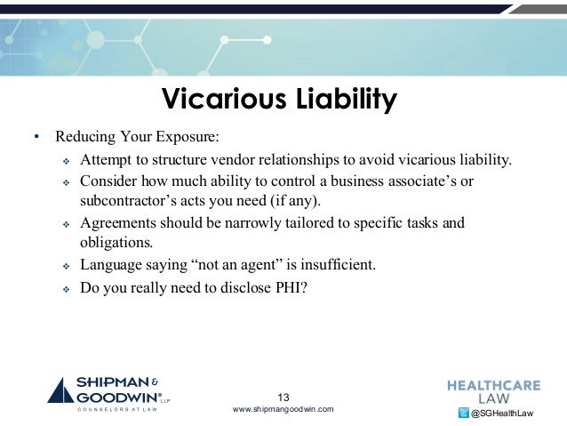 example of vicarious liability in business