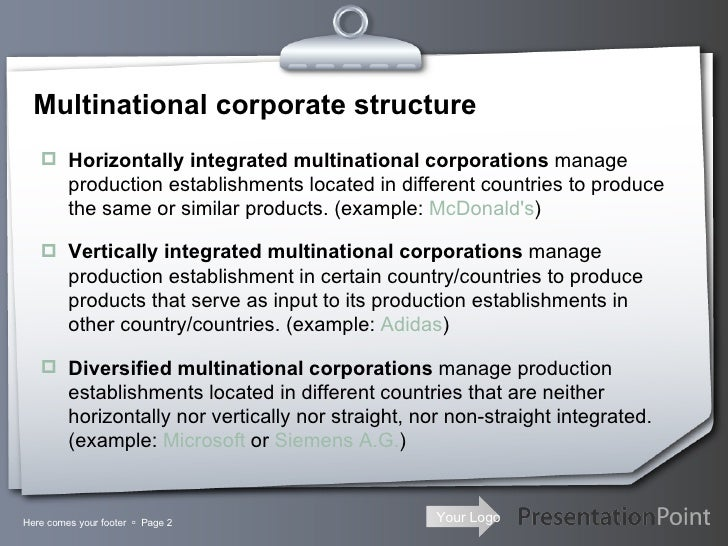 what is multinational company with example