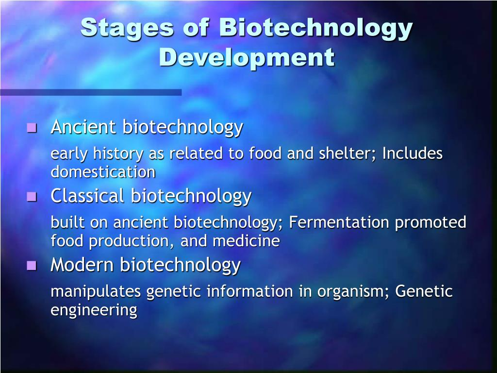 historical example of medical biotechnology