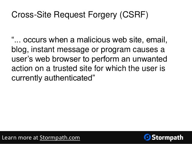 cross site request forgery example in java