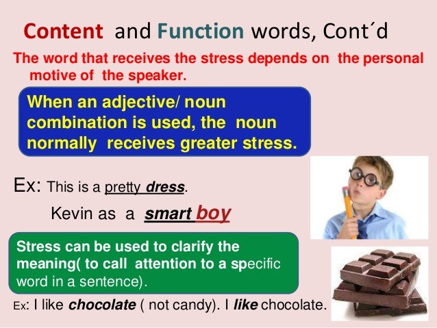 example of function words in a sentence