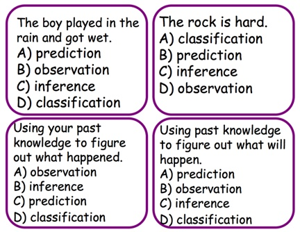example of predicting in science processes