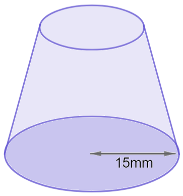 maths volume of cone missing side example