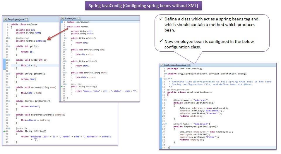 spring 4 java based configuration example